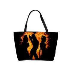 Heart Love Flame Girl Sexy Pose Shoulder Handbags