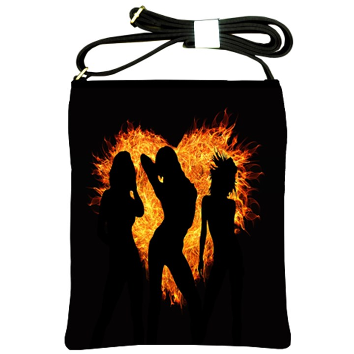 Heart Love Flame Girl Sexy Pose Shoulder Sling Bags