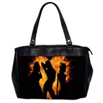 Heart Love Flame Girl Sexy Pose Office Handbags (2 Sides)  Front