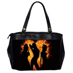 Heart Love Flame Girl Sexy Pose Office Handbags (2 Sides)  Back