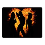 Heart Love Flame Girl Sexy Pose Fleece Blanket (Small) 50 x40 Blanket Front