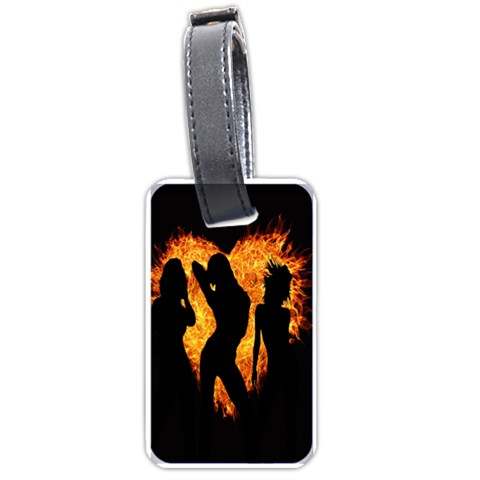 Heart Love Flame Girl Sexy Pose Luggage Tags (Two Sides)