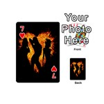Heart Love Flame Girl Sexy Pose Playing Cards 54 (Mini)  Front - Heart7