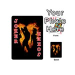 Heart Love Flame Girl Sexy Pose Playing Cards 54 (Mini)  Front - Joker2