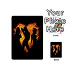Heart Love Flame Girl Sexy Pose Playing Cards 54 (Mini)  Back