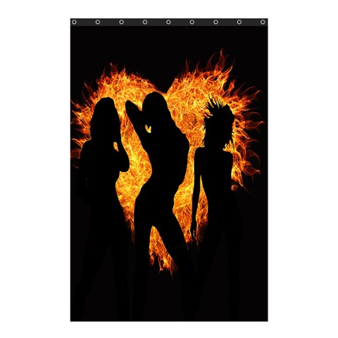 Heart Love Flame Girl Sexy Pose Shower Curtain 48  x 72  (Small)