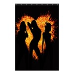 Heart Love Flame Girl Sexy Pose Shower Curtain 48  x 72  (Small)  42.18 x64.8 Curtain