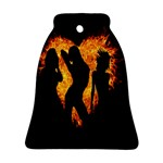 Heart Love Flame Girl Sexy Pose Bell Ornament (2 Sides) Back