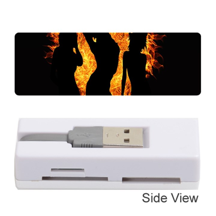 Heart Love Flame Girl Sexy Pose Memory Card Reader (Stick)
