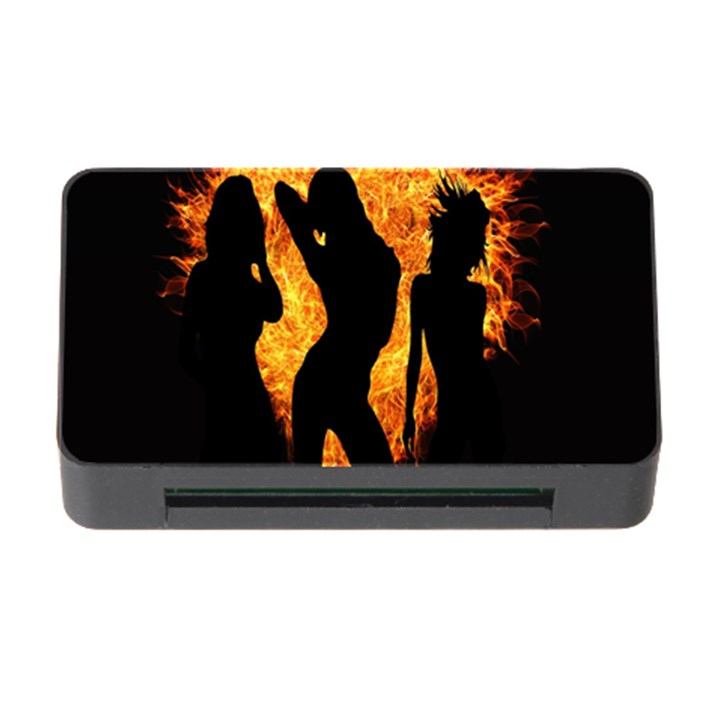 Heart Love Flame Girl Sexy Pose Memory Card Reader with CF