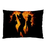Heart Love Flame Girl Sexy Pose Pillow Case (Two Sides) Back