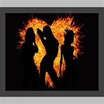 Heart Love Flame Girl Sexy Pose Deluxe Canvas 24  x 20   24  x 20  x 1.5  Stretched Canvas