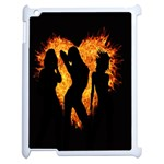 Heart Love Flame Girl Sexy Pose Apple iPad 2 Case (White) Front