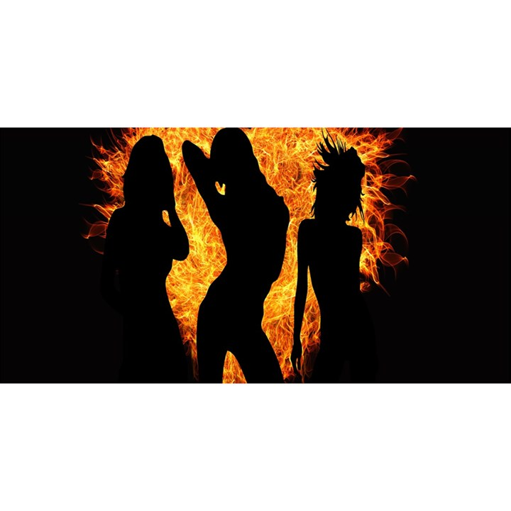 Heart Love Flame Girl Sexy Pose YOU ARE INVITED 3D Greeting Card (8x4)