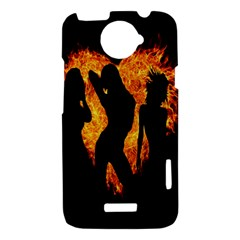 Heart Love Flame Girl Sexy Pose HTC One X Hardshell Case