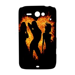 Heart Love Flame Girl Sexy Pose HTC ChaCha / HTC Status Hardshell Case