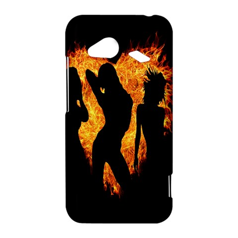 Heart Love Flame Girl Sexy Pose HTC Droid Incredible 4G LTE Hardshell Case