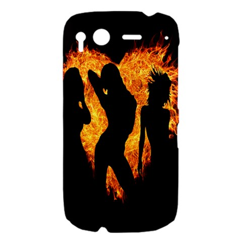 Heart Love Flame Girl Sexy Pose HTC Desire S Hardshell Case