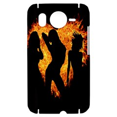 Heart Love Flame Girl Sexy Pose HTC Desire HD Hardshell Case