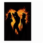Heart Love Flame Girl Sexy Pose Large Garden Flag (Two Sides) Back