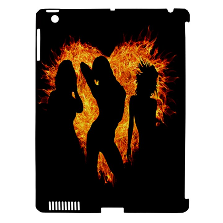 Heart Love Flame Girl Sexy Pose Apple iPad 3/4 Hardshell Case (Compatible with Smart Cover)