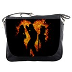 Heart Love Flame Girl Sexy Pose Messenger Bags Front