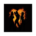 Heart Love Flame Girl Sexy Pose Acrylic Tangram Puzzle (6  x 6 ) Front