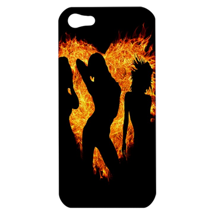 Heart Love Flame Girl Sexy Pose Apple iPhone 5 Hardshell Case