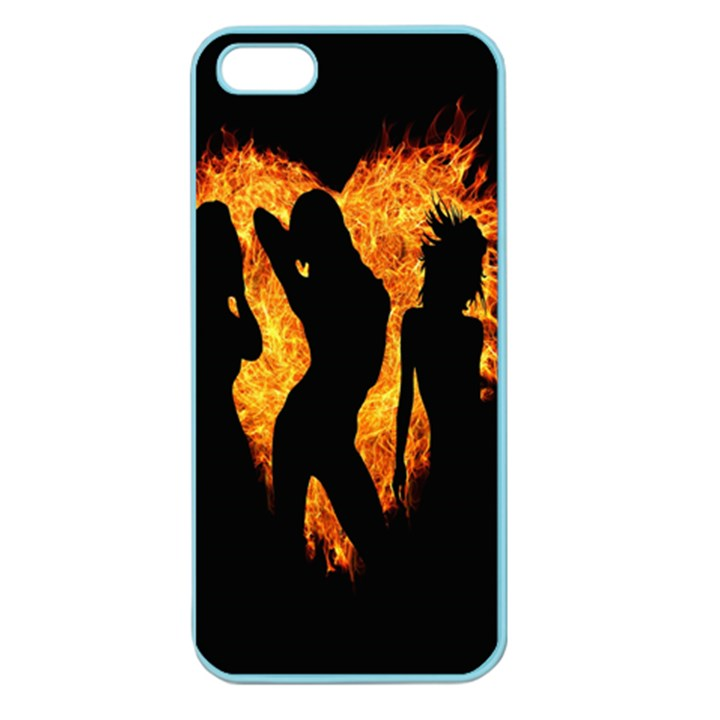 Heart Love Flame Girl Sexy Pose Apple Seamless iPhone 5 Case (Color)