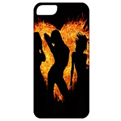 Heart Love Flame Girl Sexy Pose Apple iPhone 5 Classic Hardshell Case