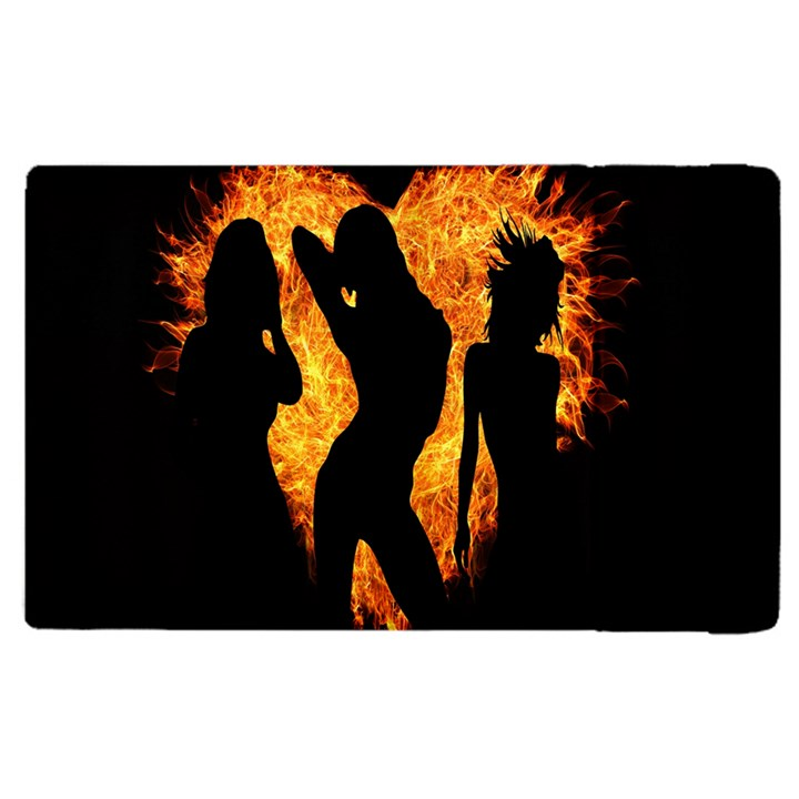 Heart Love Flame Girl Sexy Pose Apple iPad 3/4 Flip Case