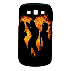 Heart Love Flame Girl Sexy Pose Samsung Galaxy S III Classic Hardshell Case (PC+Silicone)