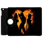 Heart Love Flame Girl Sexy Pose Apple iPad Mini Flip 360 Case Front