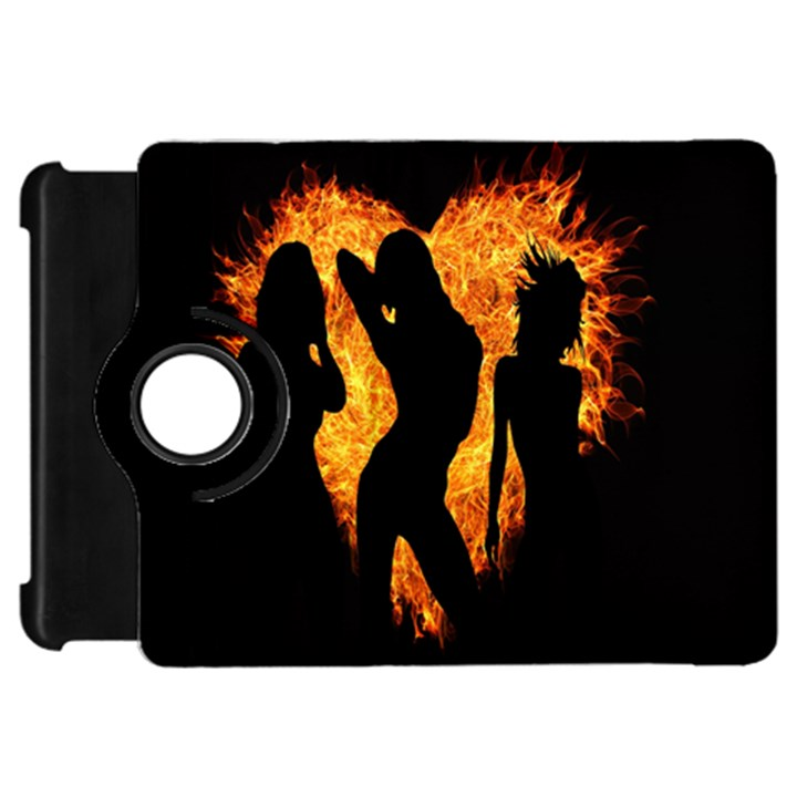 Heart Love Flame Girl Sexy Pose Kindle Fire HD Flip 360 Case
