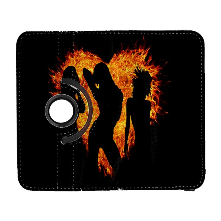Heart Love Flame Girl Sexy Pose Samsung Galaxy S  III Flip 360 Case