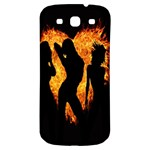 Heart Love Flame Girl Sexy Pose Samsung Galaxy S3 S III Classic Hardshell Back Case Front