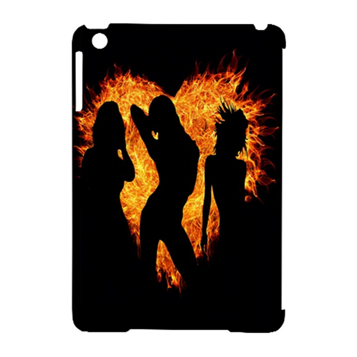 Heart Love Flame Girl Sexy Pose Apple iPad Mini Hardshell Case (Compatible with Smart Cover)