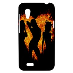 Heart Love Flame Girl Sexy Pose HTC Desire VT (T328T) Hardshell Case