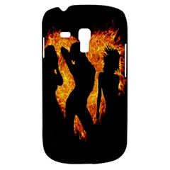Heart Love Flame Girl Sexy Pose Samsung Galaxy S3 MINI I8190 Hardshell Case