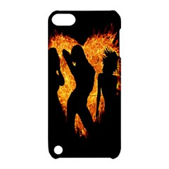 Heart Love Flame Girl Sexy Pose Apple iPod Touch 5 Hardshell Case with Stand