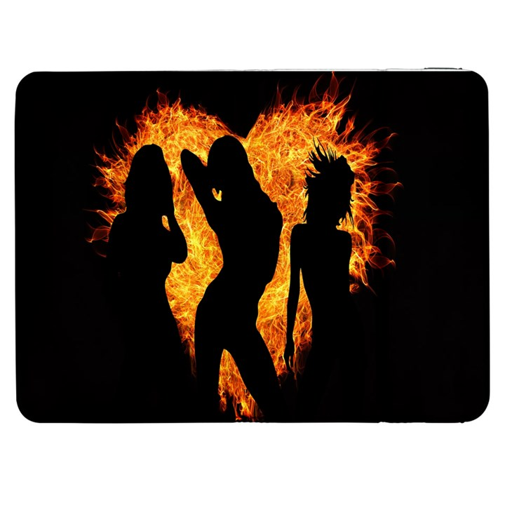 Heart Love Flame Girl Sexy Pose Samsung Galaxy Tab 7  P1000 Flip Case