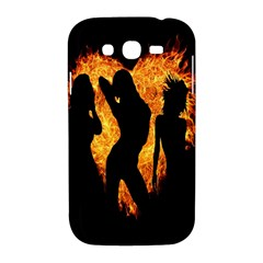 Heart Love Flame Girl Sexy Pose Samsung Galaxy Grand DUOS I9082 Hardshell Case