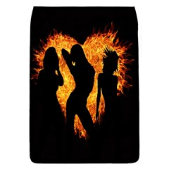 Heart Love Flame Girl Sexy Pose Flap Covers (L)