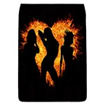 Heart Love Flame Girl Sexy Pose Flap Covers (L)  Front