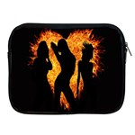Heart Love Flame Girl Sexy Pose Apple iPad 2/3/4 Zipper Cases Front