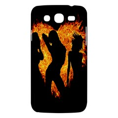 Heart Love Flame Girl Sexy Pose Samsung Galaxy Mega 5.8 I9152 Hardshell Case