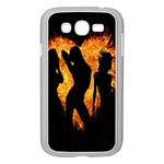Heart Love Flame Girl Sexy Pose Samsung Galaxy Grand DUOS I9082 Case (White) Front