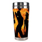 Heart Love Flame Girl Sexy Pose Stainless Steel Travel Tumblers Center
