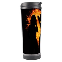 Heart Love Flame Girl Sexy Pose Travel Tumbler