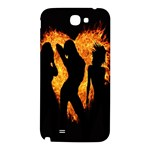 Heart Love Flame Girl Sexy Pose Samsung Note 2 N7100 Hardshell Back Case Front